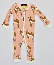 a90fbc157 Milkbarn Organic Cotton ZIPPER Pajama - Rose Doe 9-12 Months