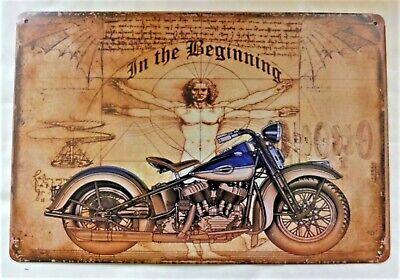 "Plaque Tolée Vintage Moto /""Américan Biker/"" 20 X 30 cm Neuf Emballé"