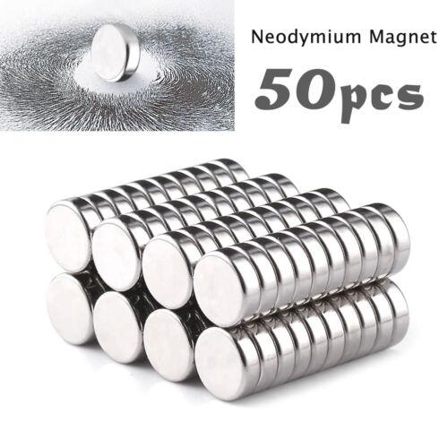 50Pcs Grad N35 4mm x 2mm Disc Runde Seltene Erde Neodym Super Starke Magnete Neu