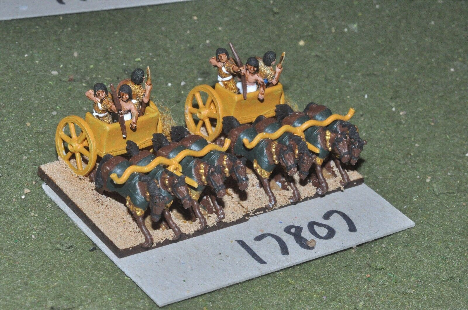 15mm biblical   egyptian - heavy chariots 2 chariots - chariot (17807)
