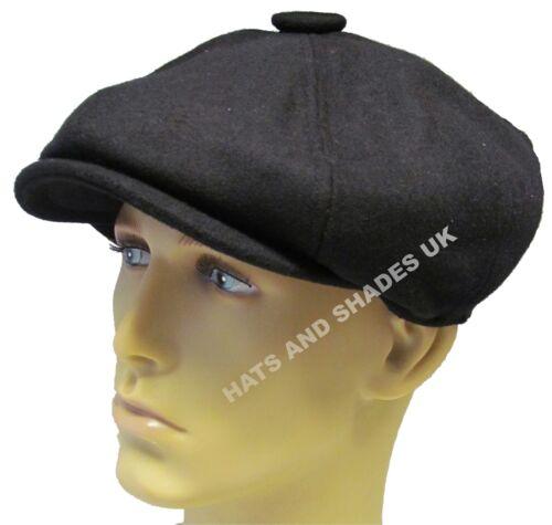 Peaky Blinders Gatsby Zeitungsjunge Kappe Hut Baker Boy Flach 8 Stoffbahnen