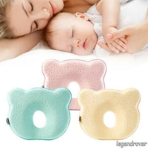 2x Baby Cot Pillow Preventing Flat Head Neck Syndrome for newborn Girl Boy Safe