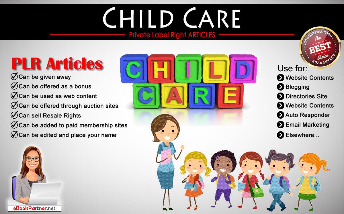 100+ PLR Articles on Child & Kid Care Niche Private Label Rights