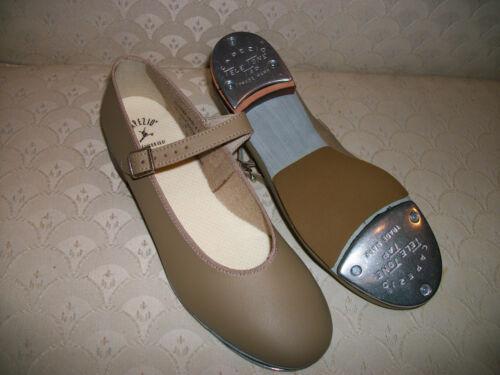 Capezio TeleTone Tap Shoe Buckle Dance 3686 Tan Black New In Box