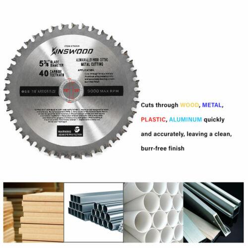 "Kinswood Circular Saw Blade Universal Fit 5/"" 3//8/"" 40T For Metal Aluminum Steel"