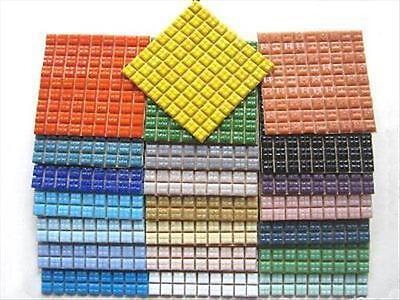 1cm Bargain Mini Mosaic Tile Hobby pack. 22 Colours, 22 Sheets, 1782 Tiles