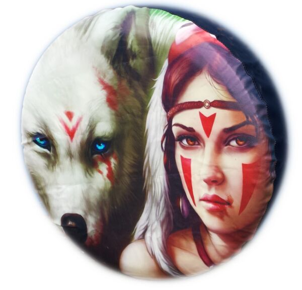 Liefdadig 4x4 Tyre Cover Girl Wolf Spare Wheel Tire Cover Car Honda Suzuki Land Rover New
