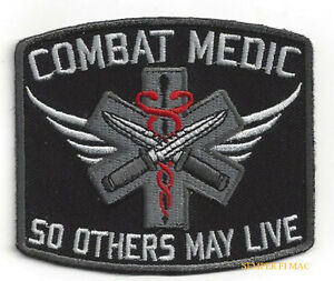 COMBAT-MEDIC-HAT-PATCH-US-ARMY-AIR-FORCE-VETERAN-DOC-PIN-UP-SO-OTHERS-MAY-LIVE
