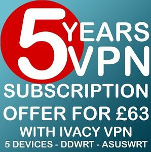 Details about 5 YEARS VPN SUBSCRIPTION WITH IVACY DDWRT ASUSWRT OPENVPN  PPTP iOS ANDROID IOS