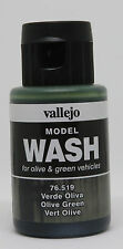Vallejo #76519 Acrylic Model Wash Colours Olive Green 35ml Bottle