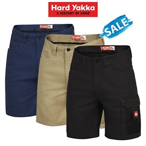 SALE-Hard-Yakka-Legends-Shorts-Cargo-Cotton-Work-Tradie-Cordura-Tough-Y05066