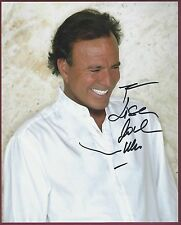 "Julio Iglesias, International Singing Star, Signed 8"" x 10"" Color Photo, COA"