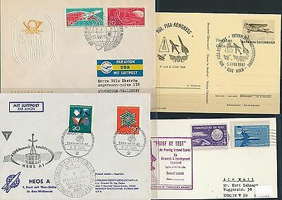 Years 195x 4 Diff 196x Weltraum Space Raketen Cds / Covers / Fdc Schneidig 01842