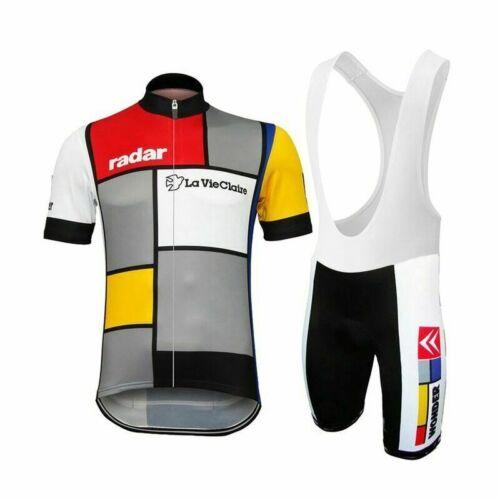 Vintage RADAR LA VIE CLAIRE Cycling Jersey and  Bib Short Set