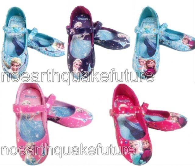New Frozen Elsa Princess Cosplay Shoes Girls Kids Baby Shoes UK Size 6-13 1 2 3