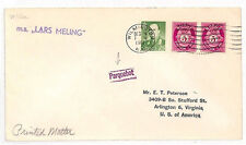 JJ270 1961 PAQUEBOT ERROR Norway *Parquebot* USA Transatlantic {samwells-covers}