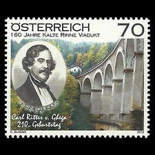 Austria 2012 - 200th Anniv Birth of Karl Ritter Train Architecture - Sc 2354 MNH