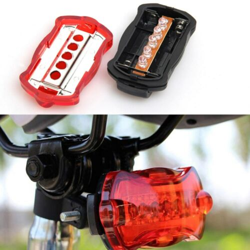 Rear Bike Light 5 LED Bicycle Butterfly Tail Light Safety Red Taillight Lamp AM3
