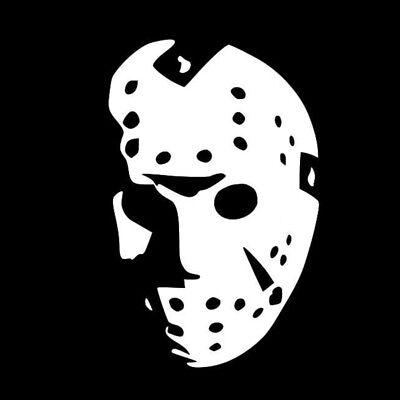 Halloween Jason Mask Cartoon.Jason Mask Vinyl Sticker Decal Voorhees Friday The 13th Horror Halloween Ebay