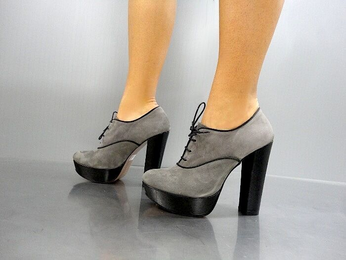 MORI PUMPS ITALY SEXY HIGH HEELS ANKLE Schuhe BOOT STIEFEL PUMPS MORI LEATHER GREY GRIGIO 38 9d4a0b