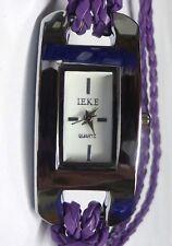 Mädchen-Uhr, Armbanduhr Leder, Damenuhr, in Lila
