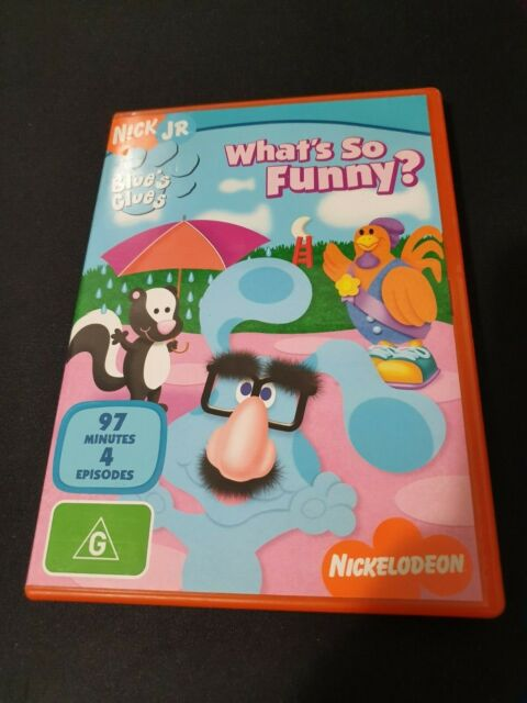 BLUE'S CLUES WHAT'S SO FUNNY *RARE* KIDS DVD R4 AUS SELLER NICKELODEON FREE POST