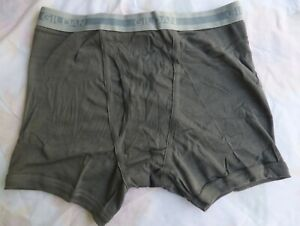 Gildan  Mens  Boxer Brief Size Med 32-34  Dark Gray New without Tags 100% Cotton