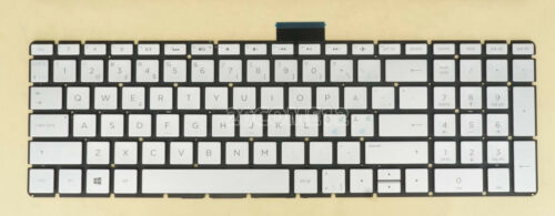 New For HP Pavilion 15-cc512no 15-cc513no keyboard Nordic ND backlit Silver