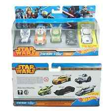 Star Wars Hot Wheels Character Toy Cars - R2D2 - Luke - Darth - Storm - Yoda
