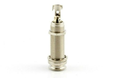 """NEW 1//4/"""" 4-Conductor End Pin Stereo Guitar Jack NICKEL"""