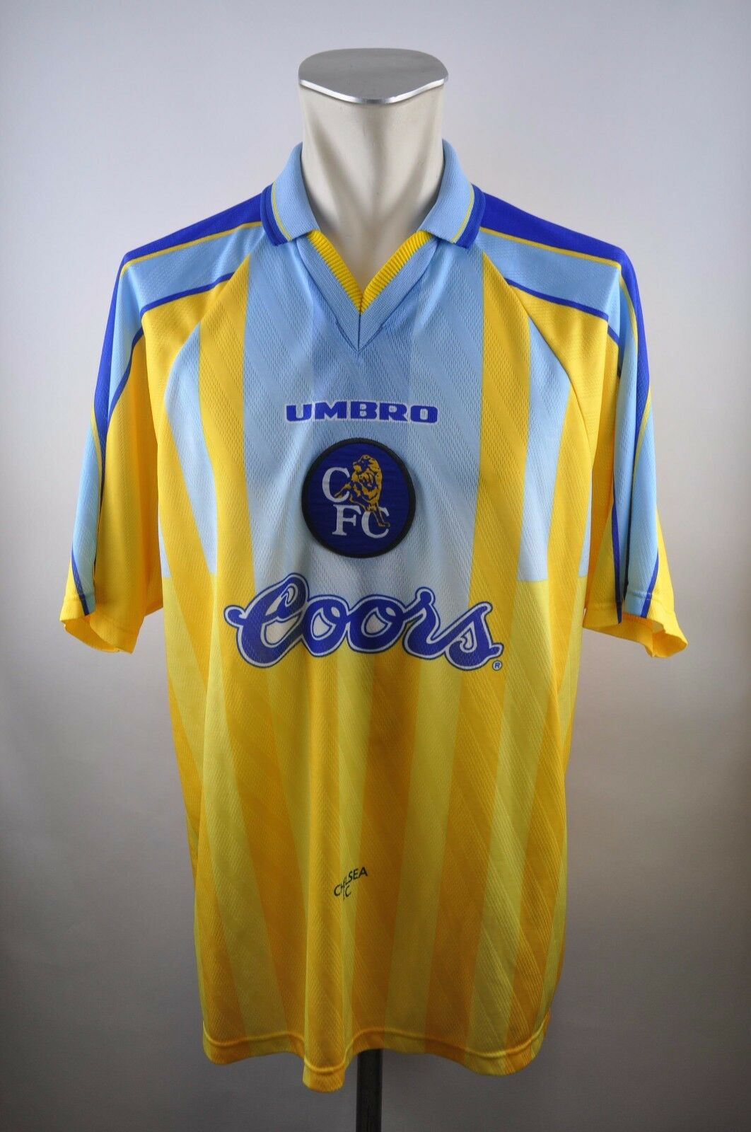 Chelsea London Trikot 1996-1997 Away XXL Umbro Coors Coors Umbro vintage 90er shirt Jersey 5e3c22