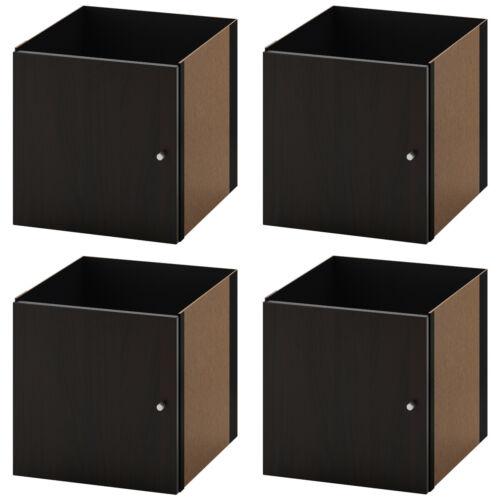4-Stück IKEA KALLAX Einsatz mit Tür schwarzbraun für Expedit Kallax Regal