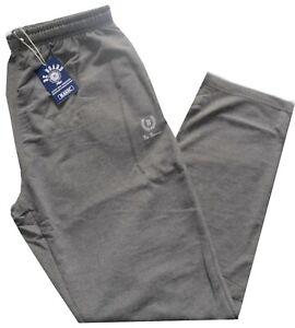 PANTALONE UOMO Jersey tuta leggero taglie forti 3XL 4XL 5XL 6XL  blu nero grigio