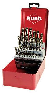 Ruko-25pcs-Set-Punte-Trapano-HSSE-Co5-1-13mm-di-alta-qualita-Made-in-Germany