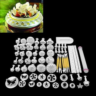 68Pcs Fondant Cake Decorating Sugar craft Plunger Tools Cookies Mold Mould YBH