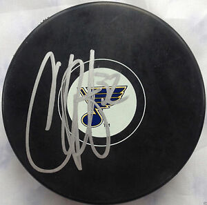 CHRIS-PORTER-SIGNED-ST-LOUIS-BLUES-NHL-HOCKEY-PUCK-AUTOGRAPHED-COA-K1