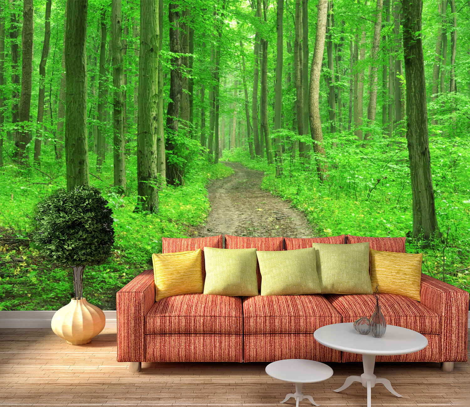3D Green forest 5434 Wall Paper Wall Print Decal Wall Deco Indoor Wall Murals