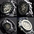 Automatic Mechanical Winner Dial Men Skeleton Stainless Steel Wrist Watch LUXURY