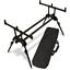 NEU-Rod-Pod-Dual-Line-inkl-Tasche-stabil-schwarz-geringes-Packmass-Carp Indexbild 1