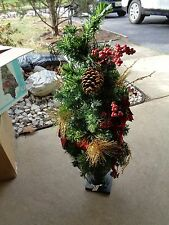"Martha Stewart Living Christmas 32"" Pre-Lit Potted Poinsettia Artificial Tree"