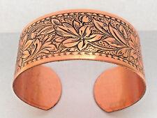 NEW PURE Copper Daisy design Adjustable Cuff Bracelet Arthritis Relief Folklore