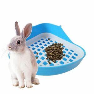 Toilette-Lapin-Bac-A-Litiere-Petit-Animal-Coin-Toilette-Pot-Animal-de-Com-D9F9