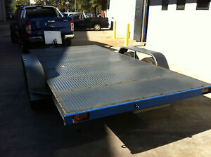 Car-Trailer-Tandem-axle-14X6-6FT-2T-USE4-RACE-FORD-HOLDEN-NO-RAMPS-OR-PAINT-INCL