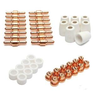 PT31 LG40 Plasma Electrodes Tips Nozzle Consumables Fit CUT40 CUT50 CT312 30pcs