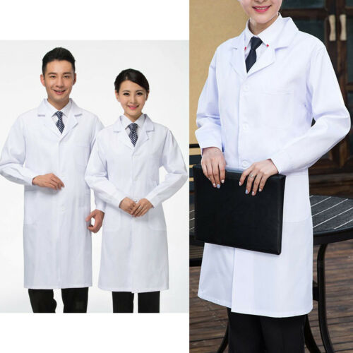 Womens Mens White Lab Coat Laboratory Coat Warehouse Coat Doctors Coat Food Coat