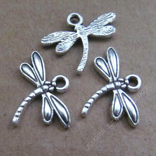 20x Tibetan Silver Dragonfly Animal Charms Pendant Crafts Jewellery Making B553Y