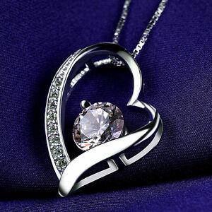 Halskette-Collier-Herz-mit-SWAROVSKI-KRISTALLEN-Zirkon-Echt-925-Sterling-Silber