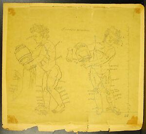 à Condition De Dessin Au Crayon étude D'une Sculputre Antique Roma Study In Pencil Vers 1930