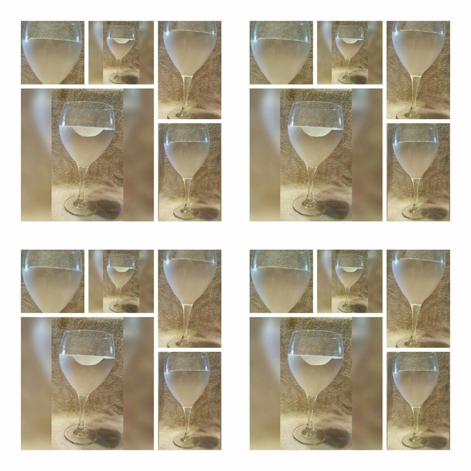 Bridal Shower, SET OF 6, GUESTS DECORATING  GOBLET-Hand Painted
