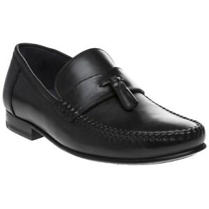 54dd839c096d New Mens Ted Baker Black Simbaa Leather Shoes Loafers And Slip Ons ...